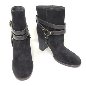 Ugg Australia Dandridge Black Suede Harness Boots